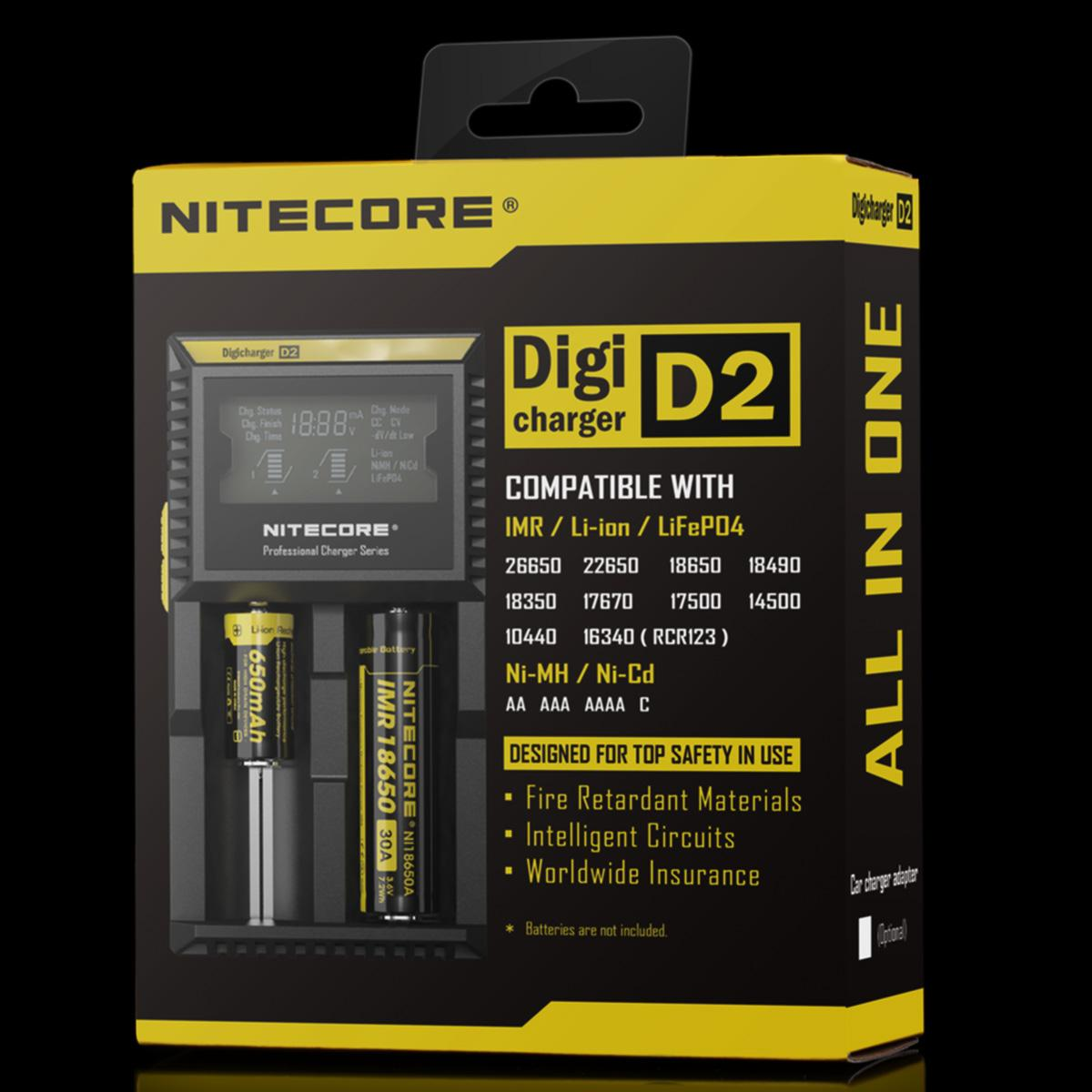 Nitecore D2 charger for 18650 batteries Ireland