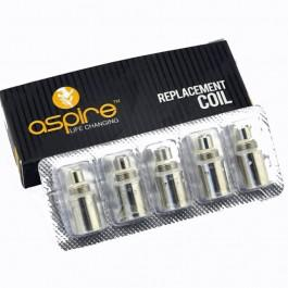 NEW ASPIRE BVC COILS 5 PACK FITS ASPIRE K1, CE5 S, ET-S