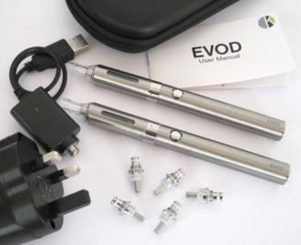 EVOD BCC STARTER KIT TWIN PACK + FREE LEATHER CASE