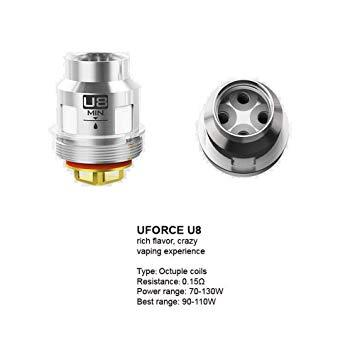 VOOPOO UFORCE U8 COILS (5 PACK) 0.15OHM in Ireland