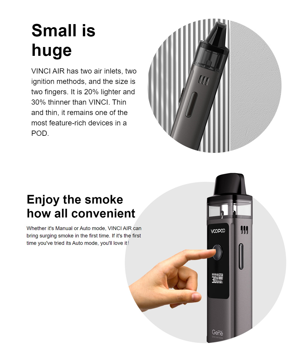 Voopoo Vinci Air vape pod kit now in Ireland